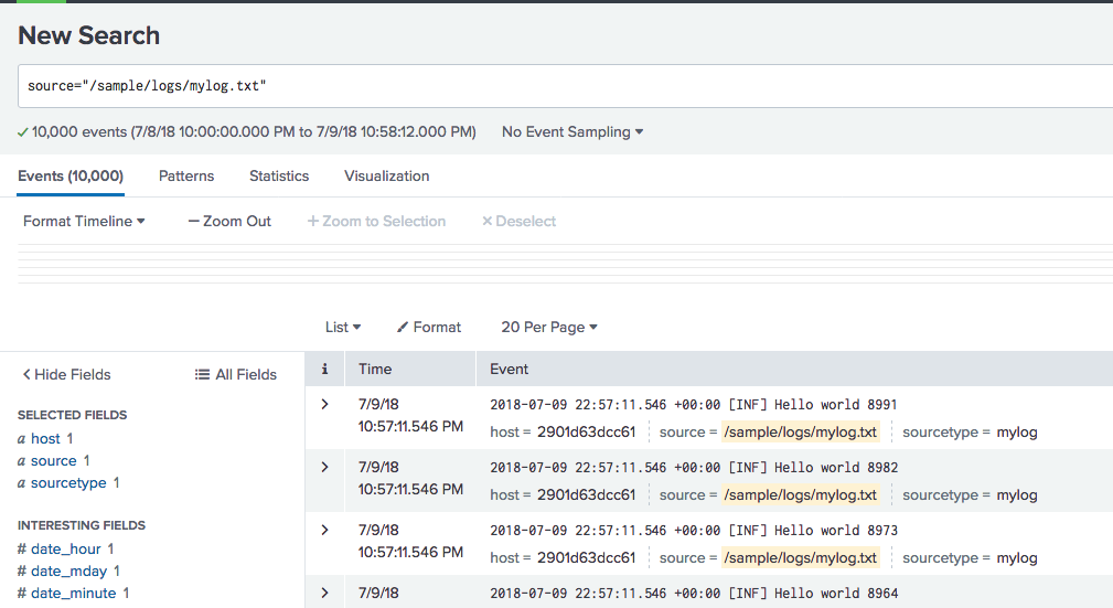 Exploring Serilog v2 - Using Splunk with the File Sink and